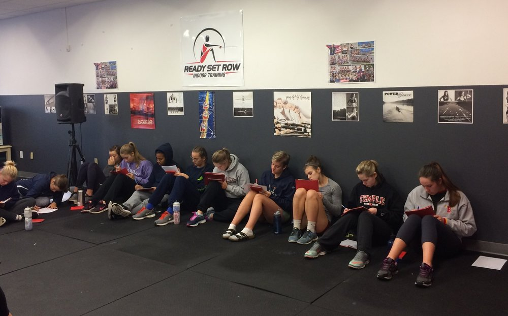 Mikaela completing RSR Mental Game exercises at 2016 RSR 2K Clinic with fellow RSR athletes.