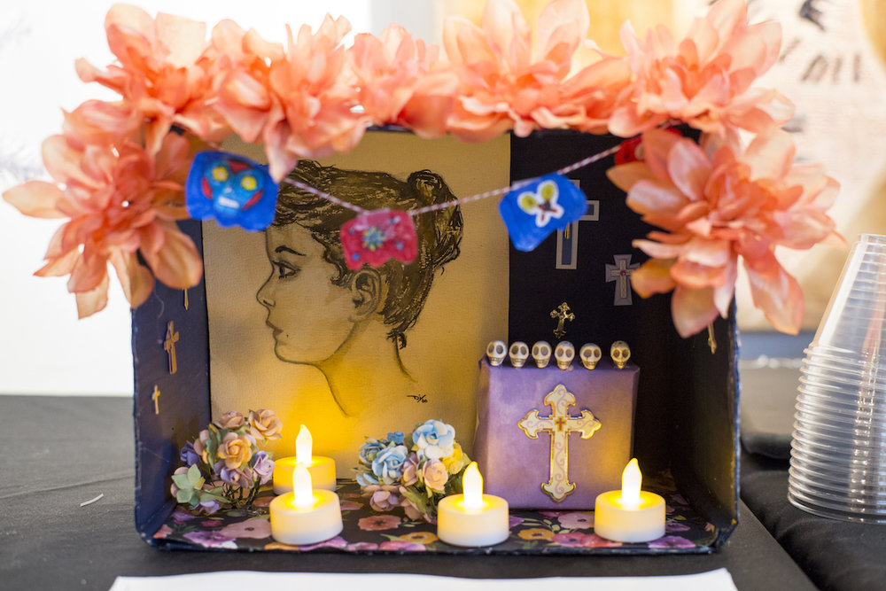 Spanish Expedition, An Ofrenda like Spanish cultures use to honor their dead during Diá de Los Muertos.