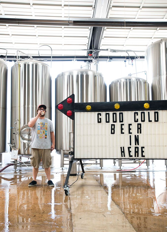photography by Elizabeth Lavin |Four Corners brewmaster Zach Petty