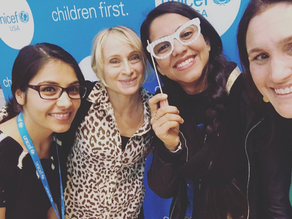With the team after talking to youth about the power of advocacy at UNICEF USA's annual meeting