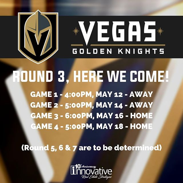 Our Golden Knights will go up against the Jets in Round 3 of the Stanley Cup Playoffs! Who else is jumping for joy and rooting for #VGK? Show your support in the comments below! • • • • • • #goknightsgo #vegasborn #vegasgoldenknights #realestate #brokerage #IRESVegas #BrandyWhiteElk #topagent #lasvegasrealestate #vegasrealtors #hud #broker #vegashomes #summerlinlv #homesweethome #hendersonnevada #lasvegas #buyahouse #sellyourhouse #vegasparents #centennialhills #centennialhillslv #downtownsummerlin #summerlinsouth #summerlin