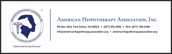 Proud members of the American Hippotherapy Association.