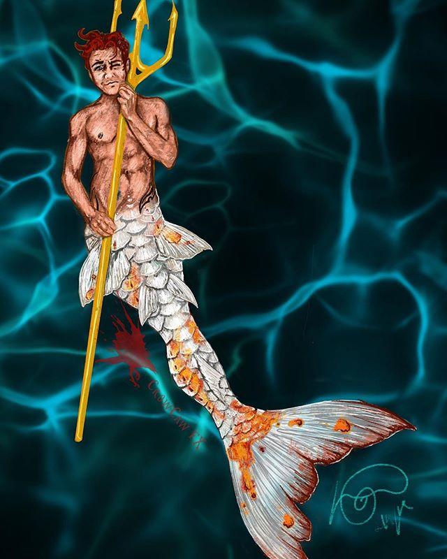 Sketch I've been working on of myself in my dream tail!! I can't wait to make this one day :) #mermaid #merman #fxmakeup #specialfx #ocean #silicone #siliconemermaidtail #smoothon #dragonskin #mermaidcostume  #crowcawfx #siren #lasirena #mermaidsofinstagram #mermenofinstagram #queerart #gay #twinks #gayboy #sketch #drawing #mermanart #mermaidart