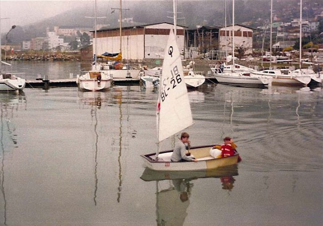 Learning to sail an Optimist with David