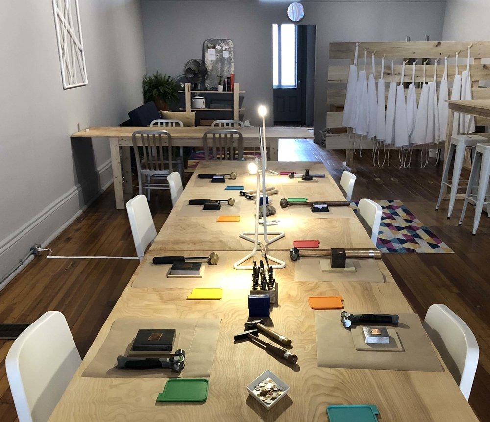 Private party rental: Girl's Night with Jewelry Making. ReFIND can assist in finding a workshop that suites your guests interests for a fun and memorable evening.