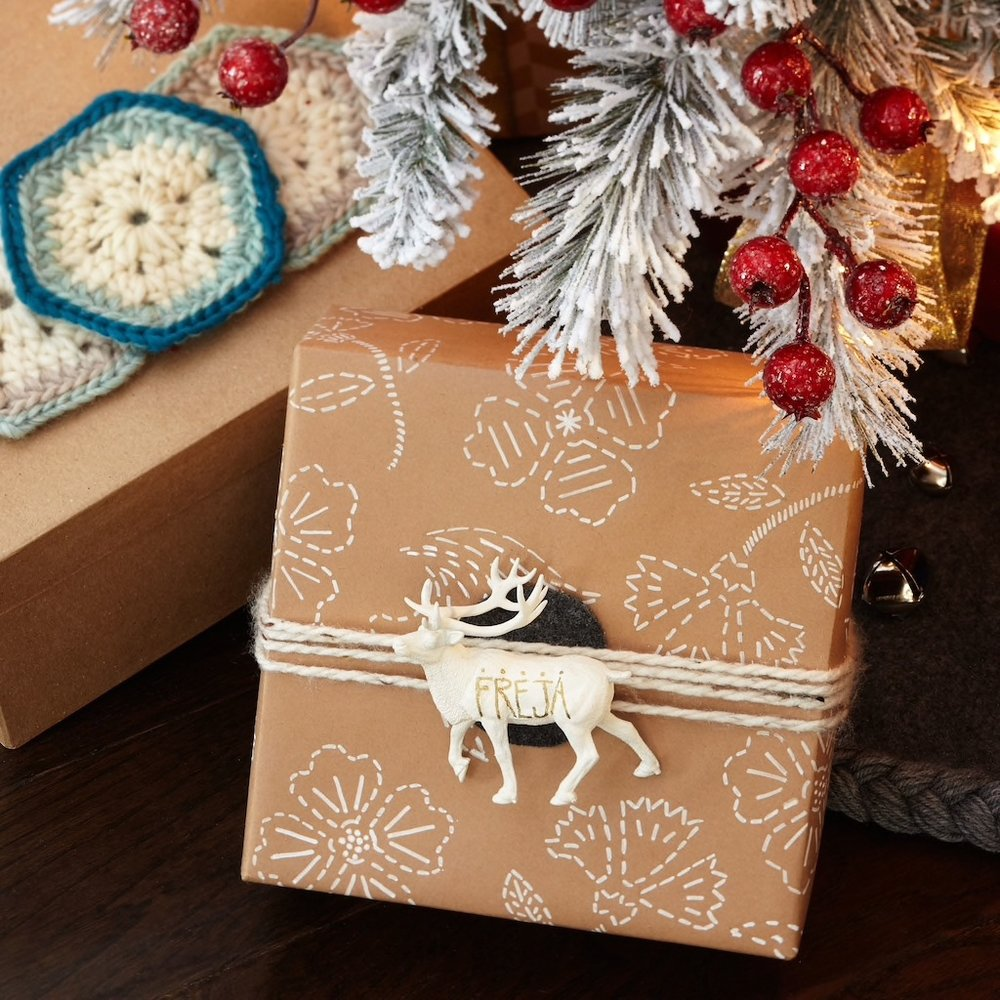 Wrapped gift with deer.jpg