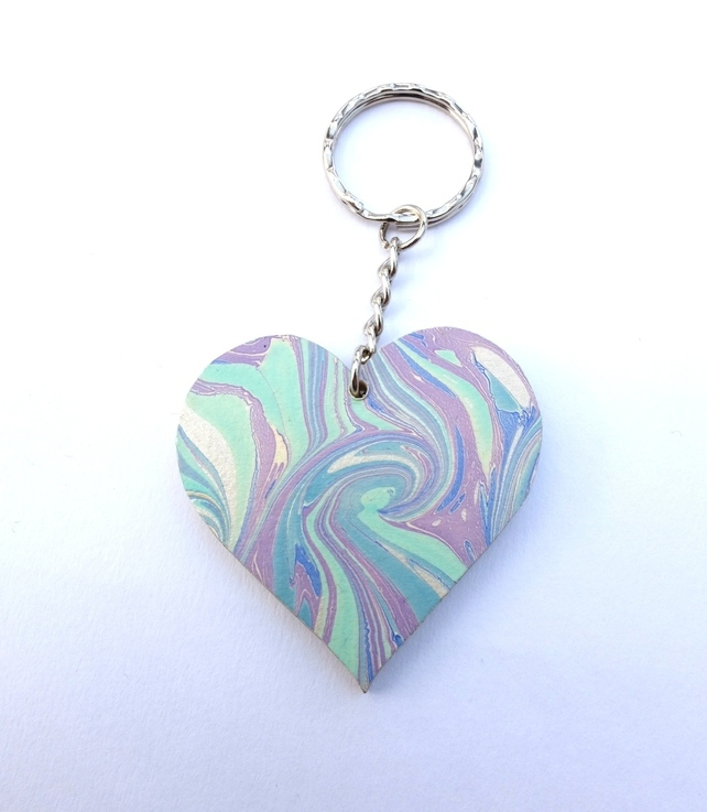 marbled heart key chain.jpg