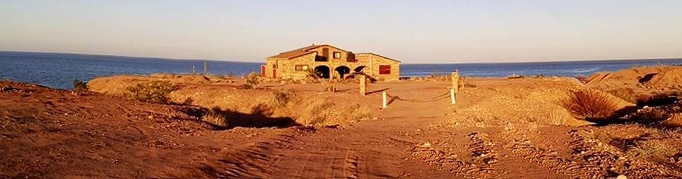 Drive way onto property Baja, Mexico