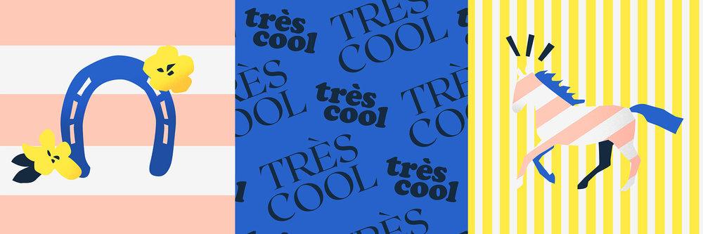 Tres Cool branding