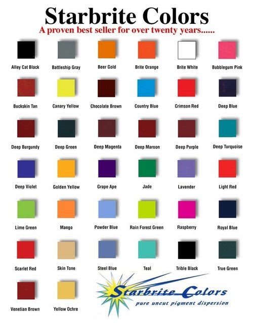 Starbrite Colors Tattoo Inks 1 Oz 2 Oz Or 4 Oz Goldentimes Corp