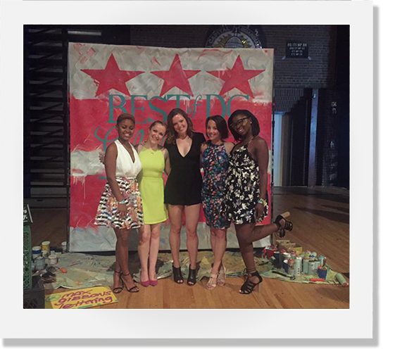 2016 |  Our team at the Washington City Paper Best of DC Party where we hosted a photo booth for the party. We snuck away from our photo booth to snap a picture in front of Max Gibbon's hand lettered sign.