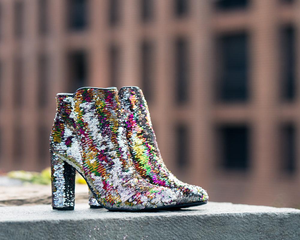 Sequin boots, Violet Boutique