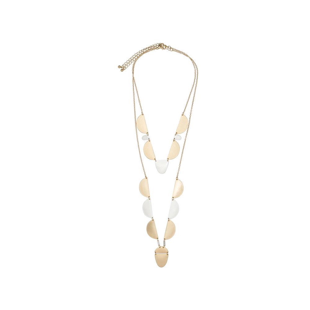 Semi-Circle Layered Necklace, $21