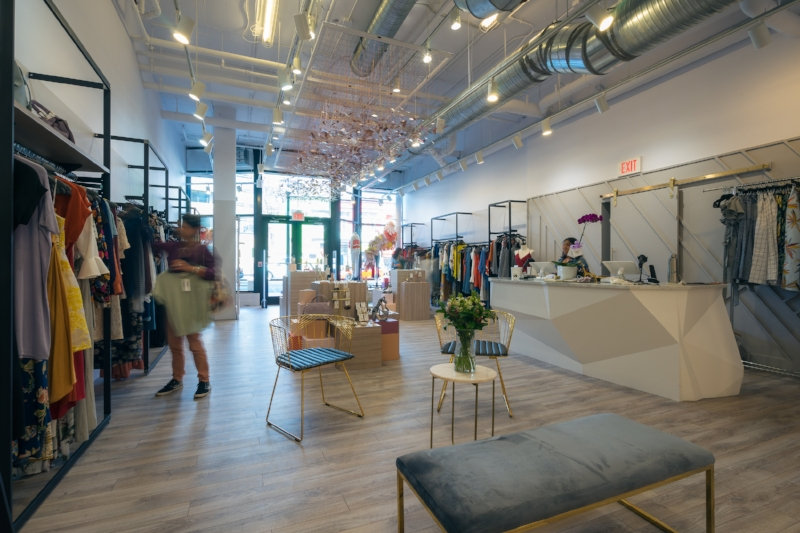 Our new permanent boutique at The Shay, located at 1924 8th St NW. We offer women's clothing, accessories and personal styling and get new shipments of items in multiple times a week!