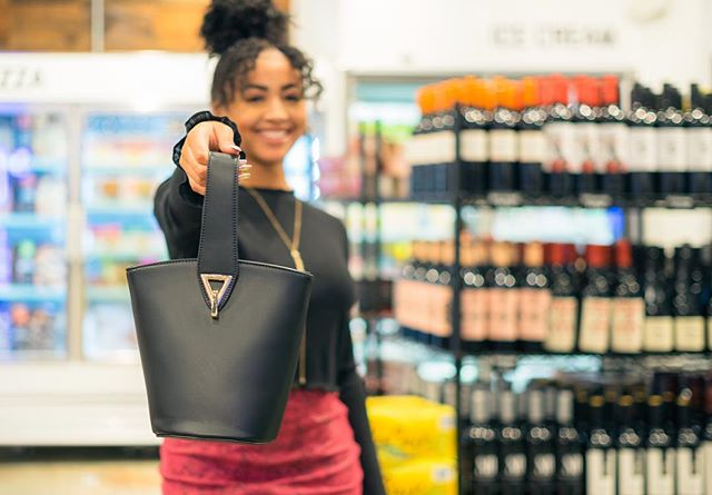 What's your favorite current bag trend? We're loving this vegan leather bucket bag!