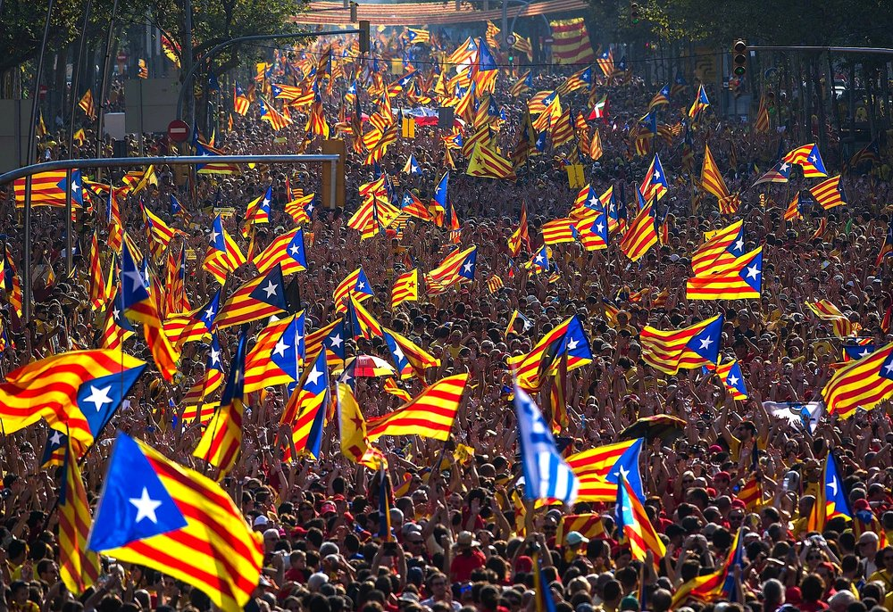 The newest state in Europe: The Republic of Catalonia.