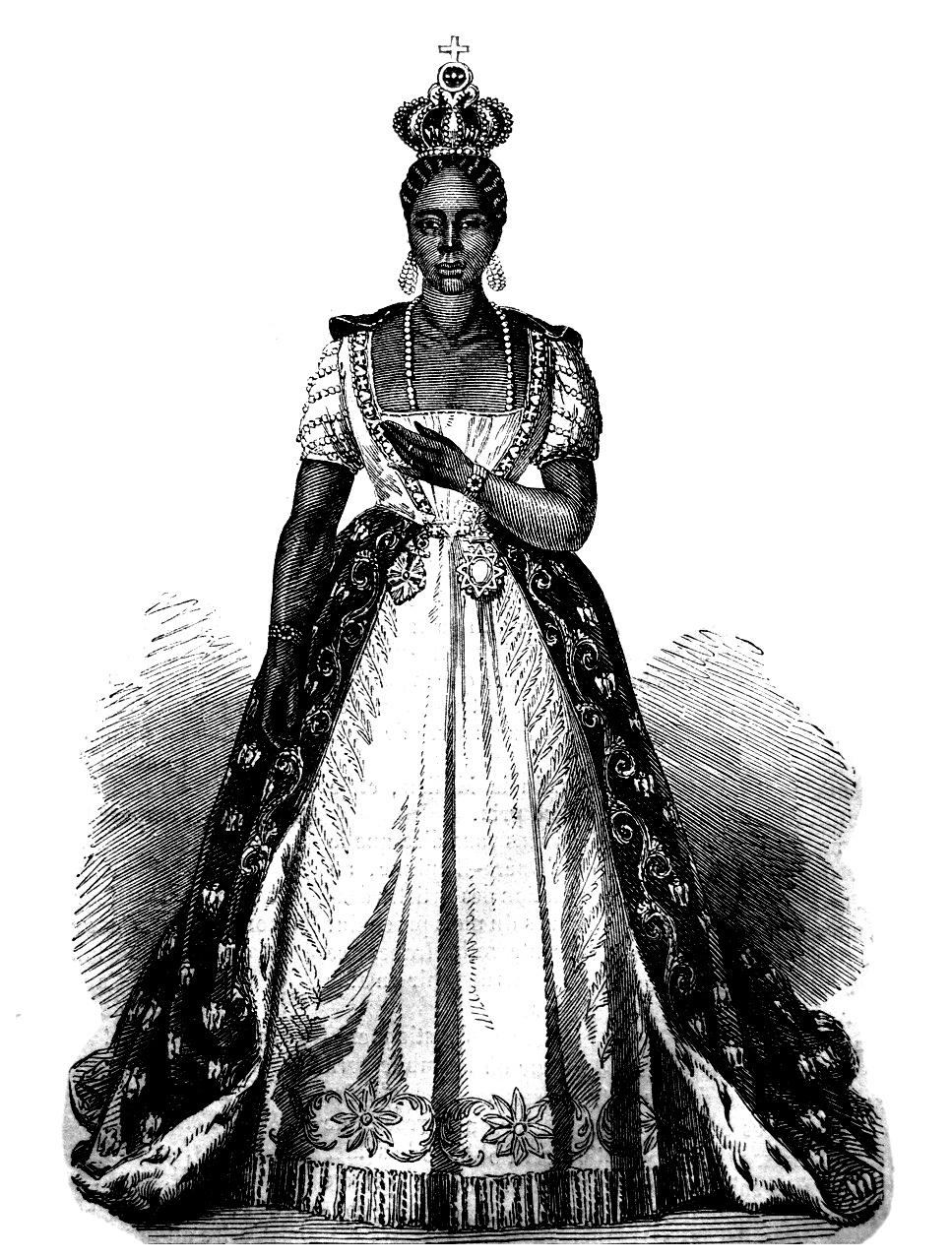 Empress Adélina I of Haiti, c. 1859. (Public Domain)