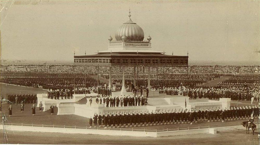 The splendor of the Indian Durbar in 1911. (Public Domain)