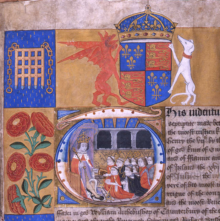 Henry VII's document granting royal almhouse. (The National Archives UK @ Flickr Commons)