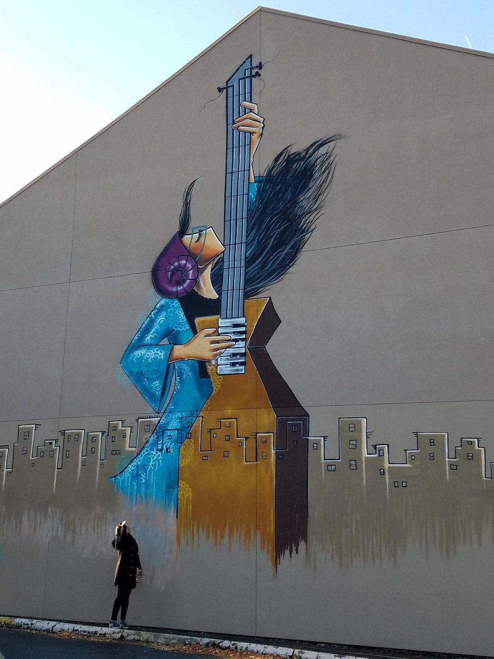 Shamsia's mural; Photo by Alec Cowan, KLCC