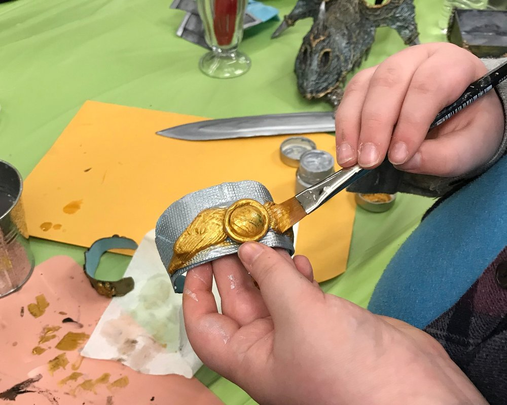 Using Tommy Art metallics on Thibra powercuff