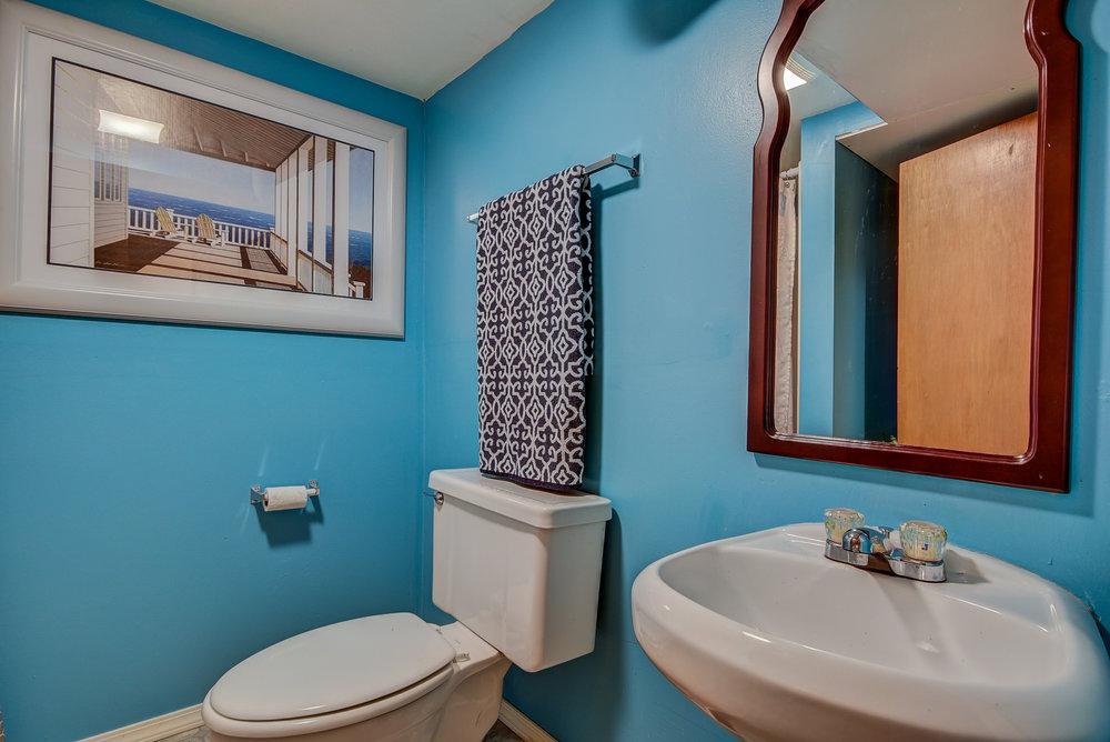 3/4 bath downstairs...
