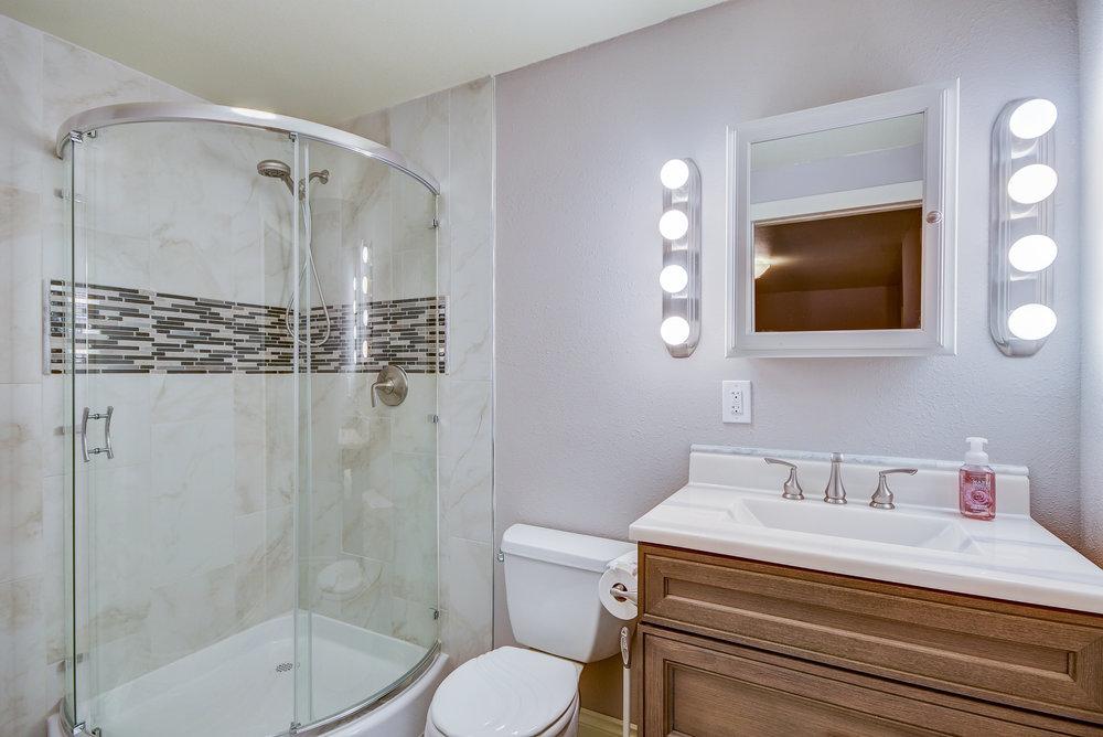 Fabulously renovated master bath...