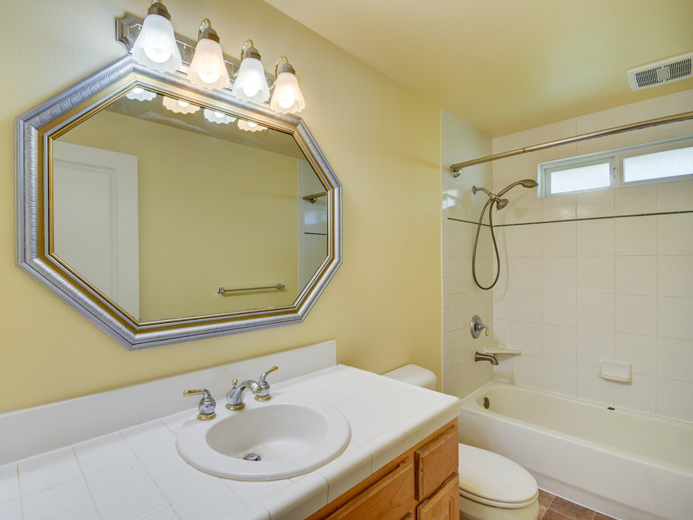 Full guest bath...fresh paint...new flooring...ready for you!