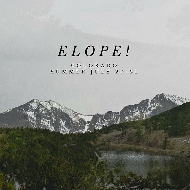 Hey adventurous couples who just want to hop in the car & leave all that stress behind you.  A few spots left for July 20-21 All inclusive elopement packages for this summer.  One weekend only so get your spot booked today.  Link in profile.  #elopement #elopementwedding #elopementphotographer #coloradoelooementpackages #colorado #summer