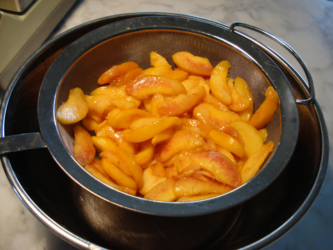 2) Macerated peaches