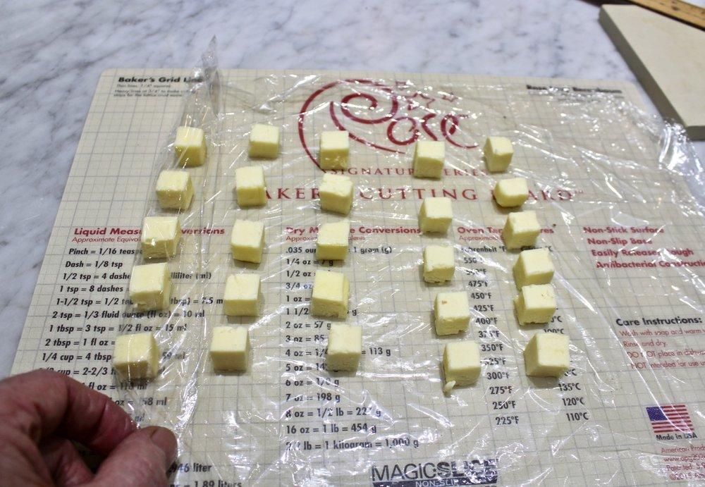 6A) roll up the butter cubes