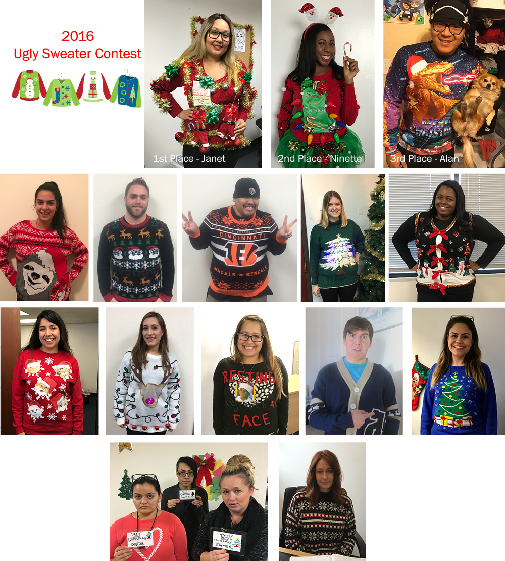 Office Contests Ugly Sweater 2016 Behavior Frontiers