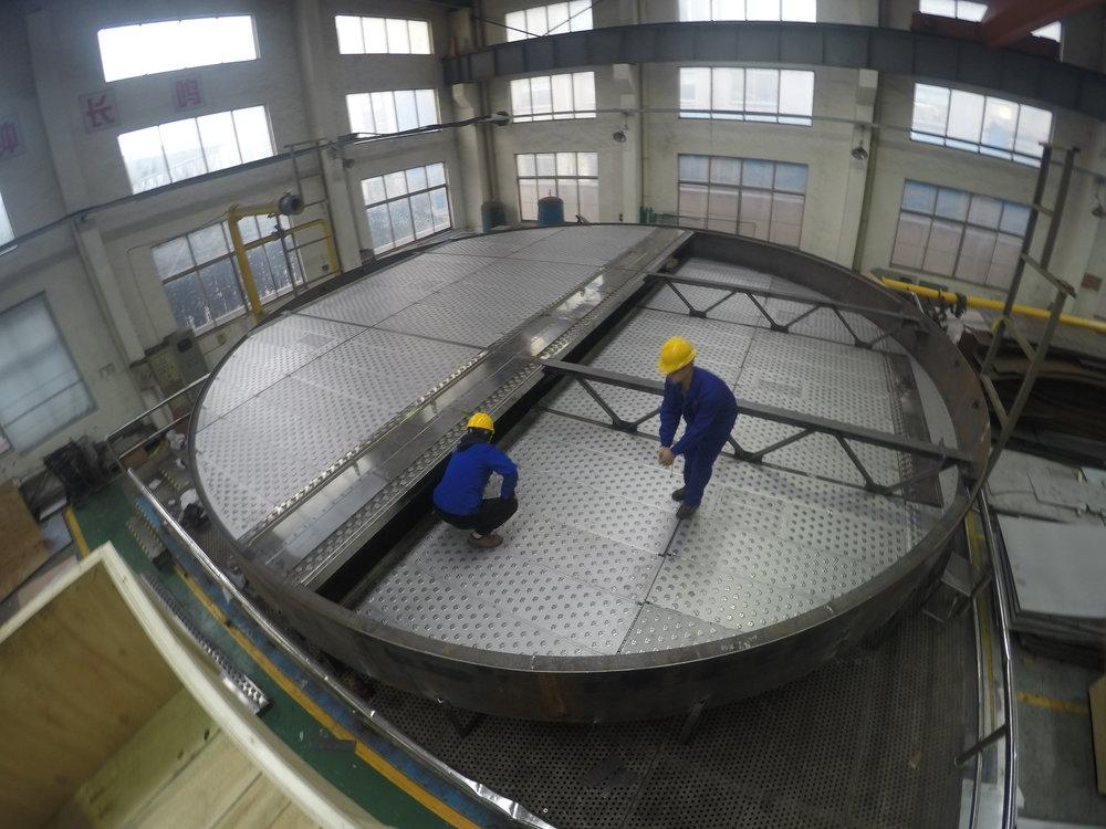 9900mm 2 Pass AMT ADV Fractionation Distillation Tray.JPG