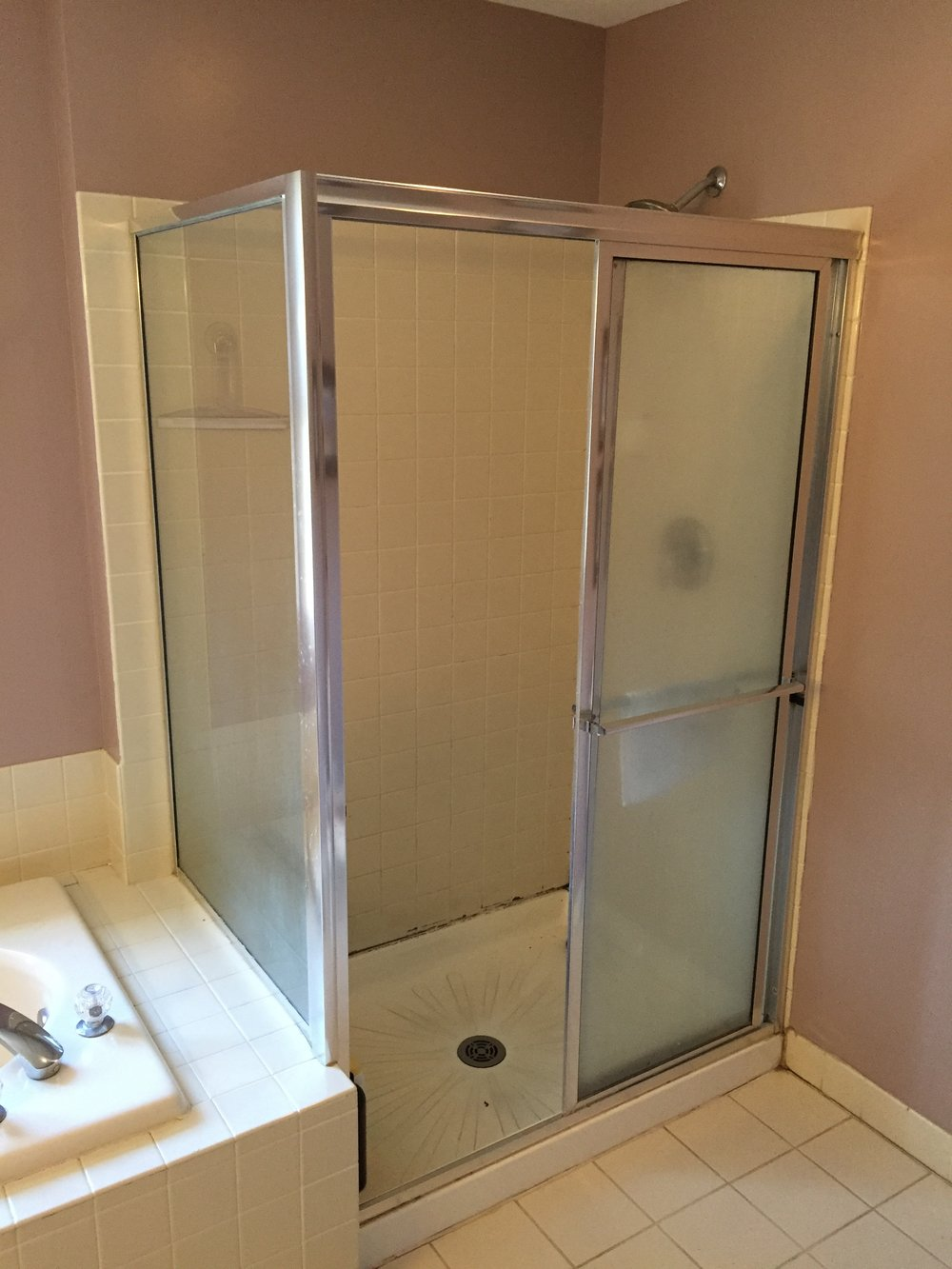 Existing shower