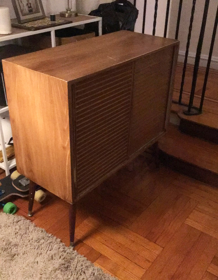 Luckily I came across this mid century piece at the thrift store for $40!