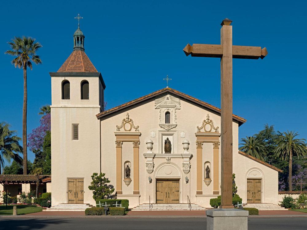 Mission Santa Clara de Asis, on the campus of Santa Clara University