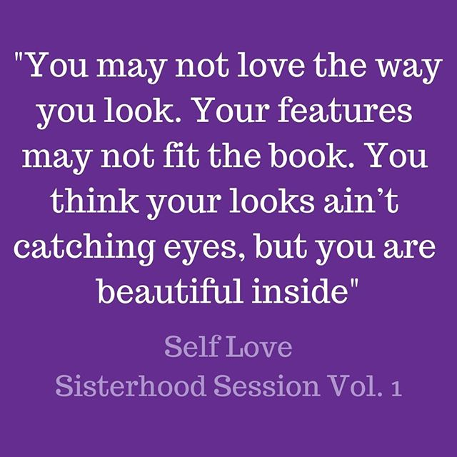 """""""You may not love the way you look. Your features may not fit the book. You think your looks ain't catching eyes, but you are beautiful inside."""" Self Love, Sisterhood Sessions Vol. 1 💜🎵⠀ You can listen to Self Love and all of the songs on Sisterhood Sessions Vol. 1 by clicking the link in our bio. They are available through SoundCloud and our Think Women Website!⠀ .⠀ .⠀ .⠀ .⠀ .⠀ #thinkwomen #sisterhoodsessions #vol1 #lately #buildingbossladies #girlbosses #womensupportingwomen #musicismedicine #womenempowered #changemakers #musicispowerful #selfloveisthebestlove #selflove #sisterhoodovercompetition"""
