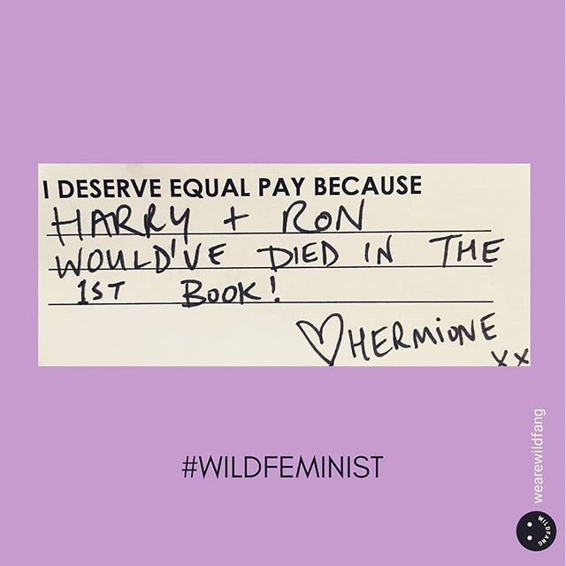 We're serious.  Would you go to work and ask your boss for a 23% (or more) decrease in pay?  We wouldn't either. But, every day a woman shows up to work chances are her male coworkers are making 23% more for the same job. Women of color and hispanic descent make less. 40%-50% less than men.  EXCUSE: Men are more agressive at asking for promotions & raises.  SOLUTION: Know your worth (and average industry pay range), then quantify your impact, and ask to be considered for a raise or promotion.  #equalpayday  #generationpaid #womensrights #genderpaygap #equality #werewithher #hermionegranger #knowyourworth #supporttransparency #incomeinequality #problemsolved