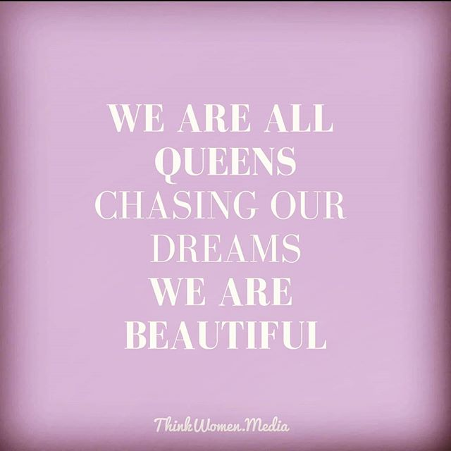 "Have you ever compared yourself  to someone else and wondered why their (insert feature/personality trait/IG feed/etc.) is ""better"" than yours?  We'll let you in on a secret... There's no competition. We are all queens. We are all beautiful. We can all make our dreams come true. 👸 GIVE THE QUEENS IN YOUR LIFE A SHOUT-OUT."