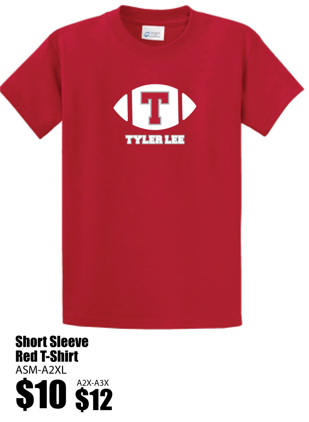 Spirit Gear_Short Sleeve Red Football T-shirt.jpg