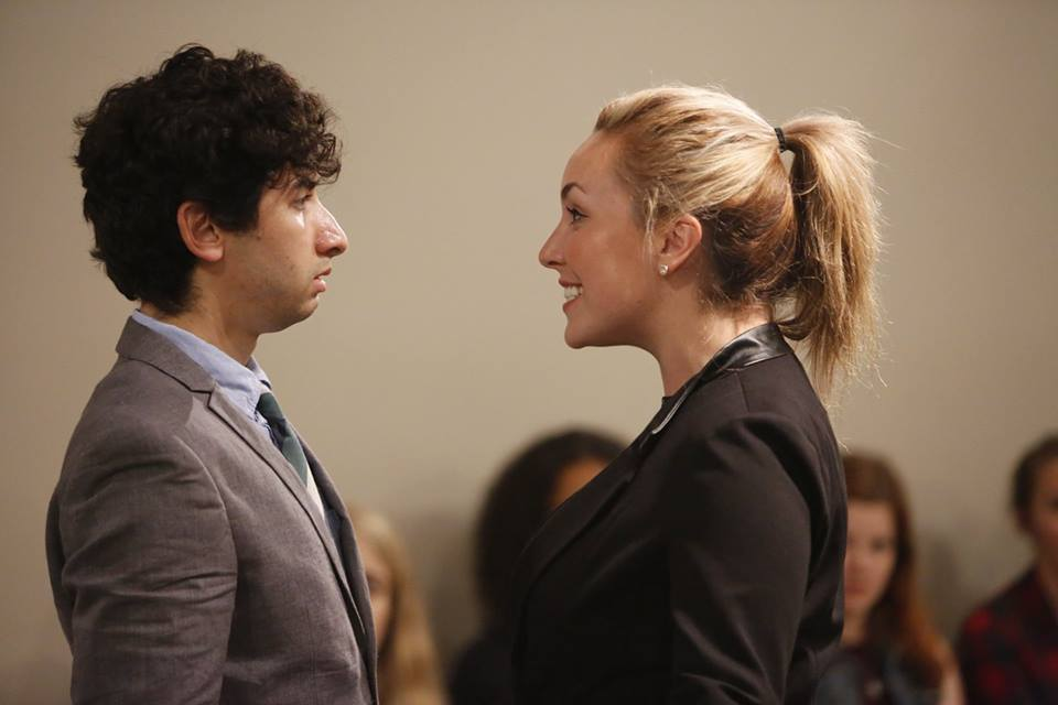 L-R: Adam Olgui and Lucy McNulty  Production Pictures Courtesy of  Tim Matheson