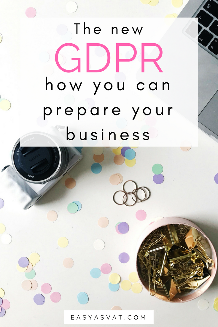The new GDPR - how to prepare your business | Easy As VAT