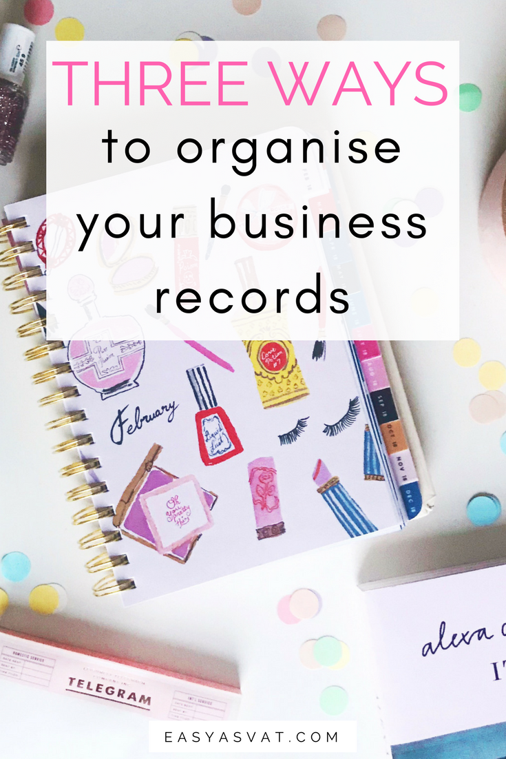 Three Ways to Organise your business bookkeeping records