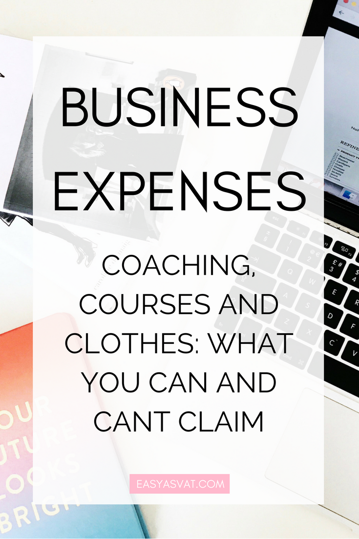Business Expenses Explained | Easy As VAT | tax, accountancy + bookkeeping help for bloggers, freelancers and small businesses