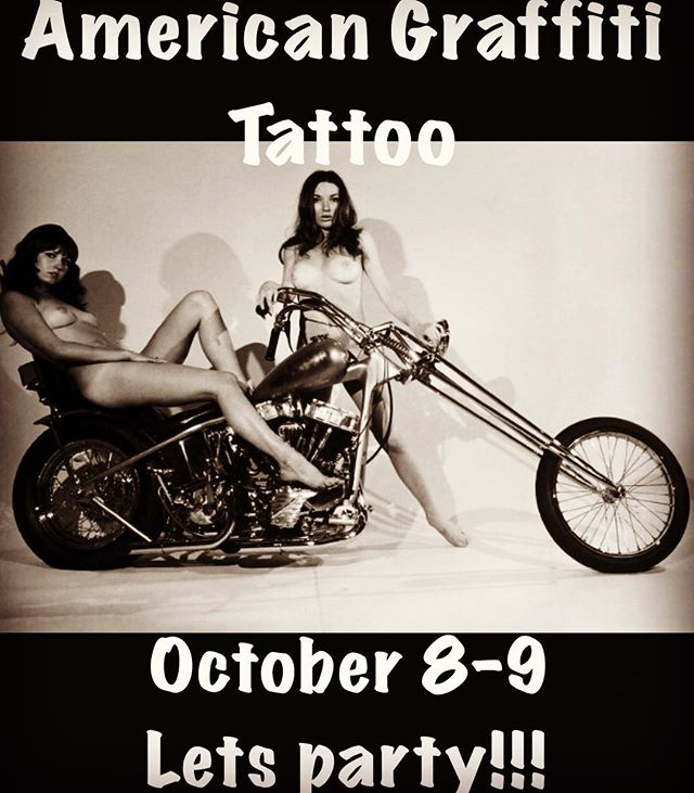 I'll be sitting in with my friends @americangraffititattoo on October 8-9! Let's make some tats and shred the gnar🤘🏻