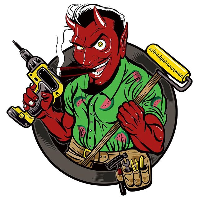 The unholy handyman, it's been a while :p Going to start a side gig and wanted a nice logo and brand to go with it.