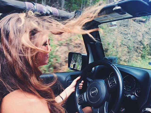 Happiness is a dirt road + the wind in your hair •|||||||•