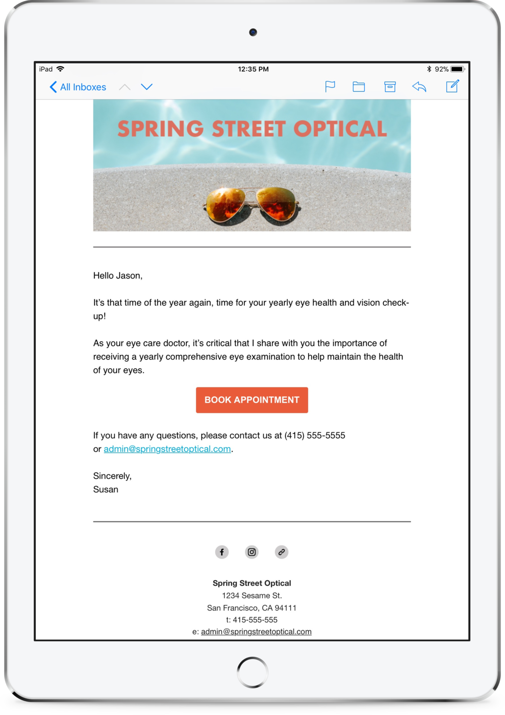 Recall Email iPad.png