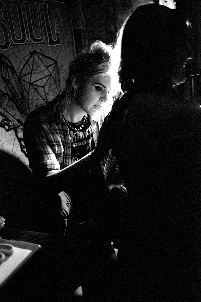 Brandy Bryant at work - Ilford HP5 Plus 400 (+2)