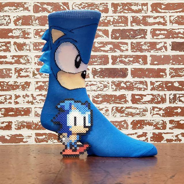 Sonic's waiting for you to come in and get these sweet socks! . . . . #sonic #sega #sonicthehedgehog #sonicsocks #retro #retrogames #retrogaming #videogames #socks #coolsocks #funsocks #seattle #seattlefashion #videogamefashion #pnw #pnwfashion #theave #udistrict #monday #instagood #instafashion #whatimwearing #lookgoodfeelgood #90s #bioworld
